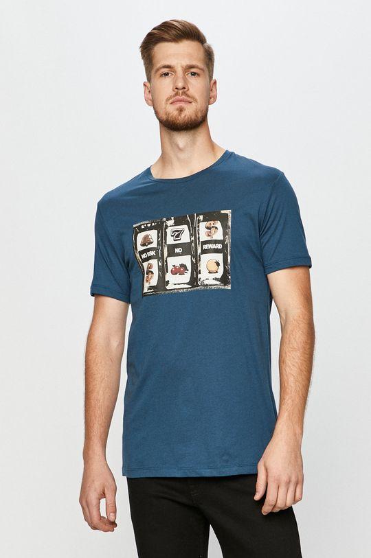oceľová modrá John Frank - Tričko Pánsky