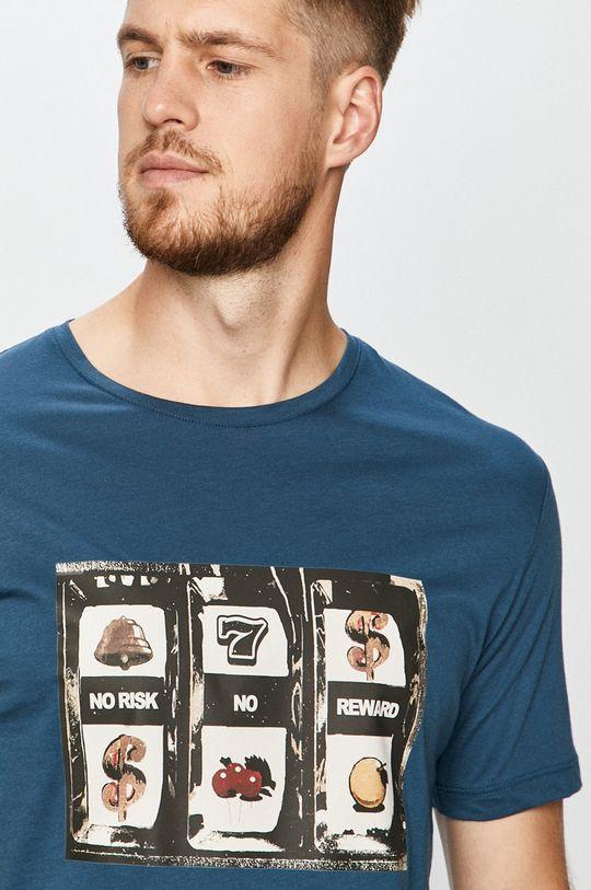 oceľová modrá John Frank - Tričko