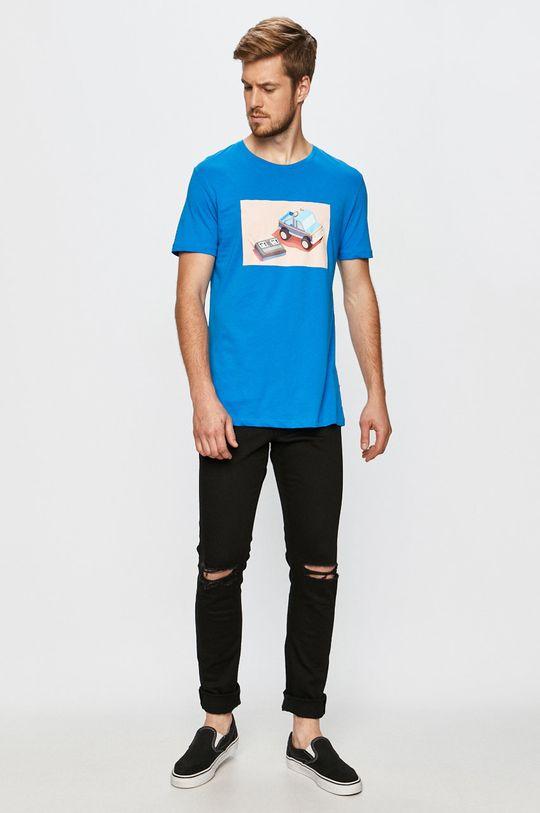 John Frank - T-shirt niebieski