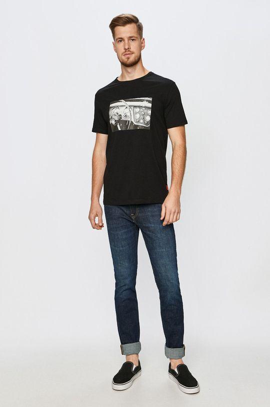 John Frank - T-shirt czarny