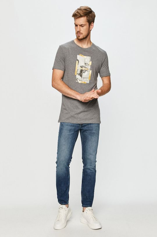 John Frank - Tričko šedá