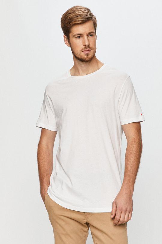 biały John Frank - T-shirt Męski