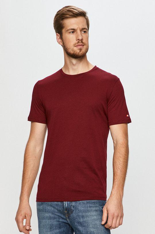 kasztanowy John Frank - T-shirt Męski