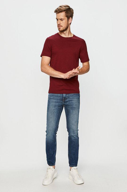 John Frank - T-shirt kasztanowy