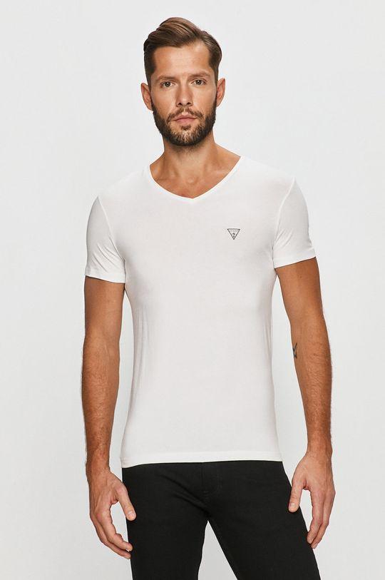 biały Guess Jeans - T-shirt Męski