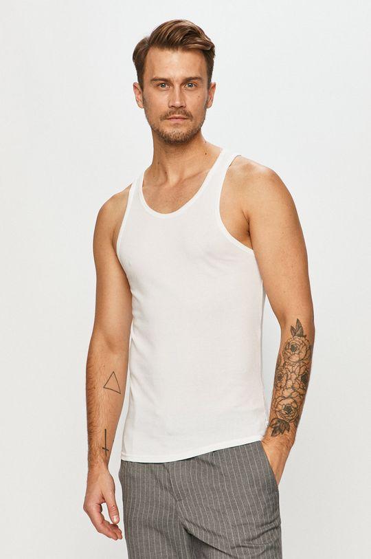 biela Calvin Klein Underwear - Tričko (2-pak) Pánsky