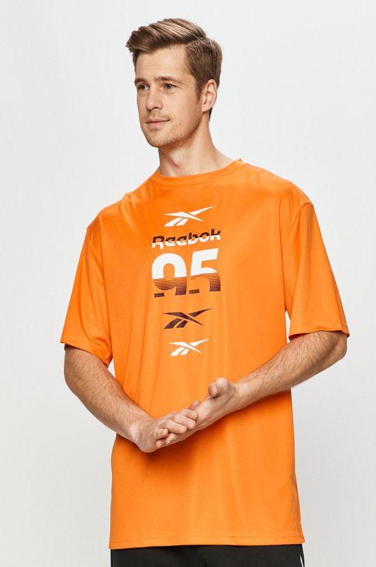 oranžová Reebok - Tričko Pánský