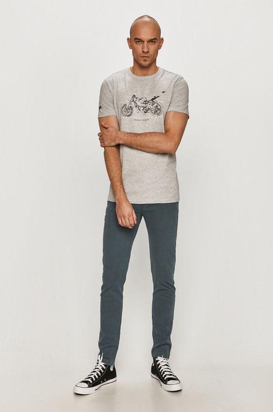 4F - T-shirt jasny szary