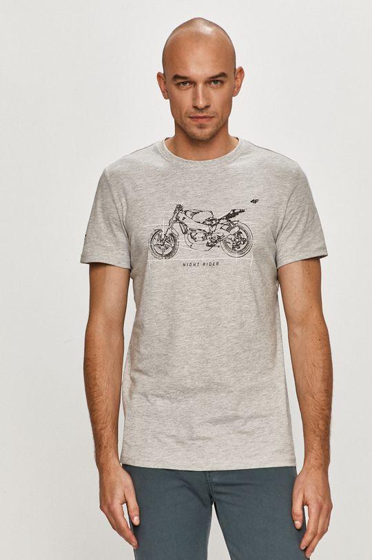 jasny szary 4F - T-shirt
