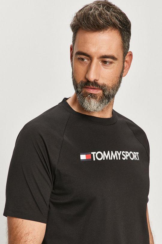 czarny Tommy Sport - T-shirt
