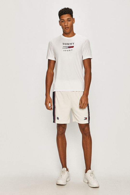 Tommy Sport - T-shirt biały