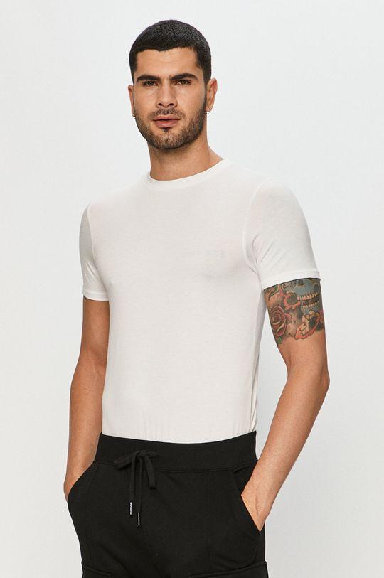 biały Resteröds - T-shirt Bamboo Viscose (2-pack) Męski