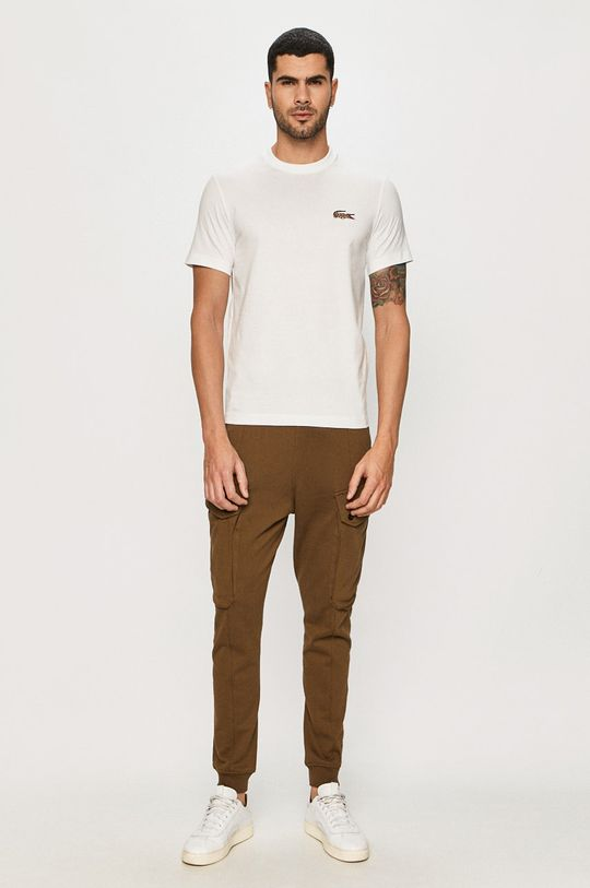 Lacoste - T-shirt x National Geograhic biały