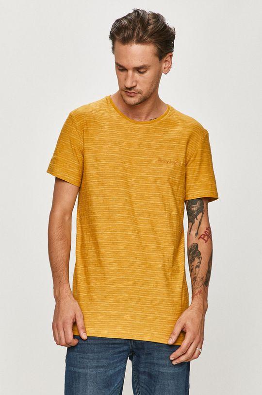 žltá Quiksilver - Tričko Pánsky
