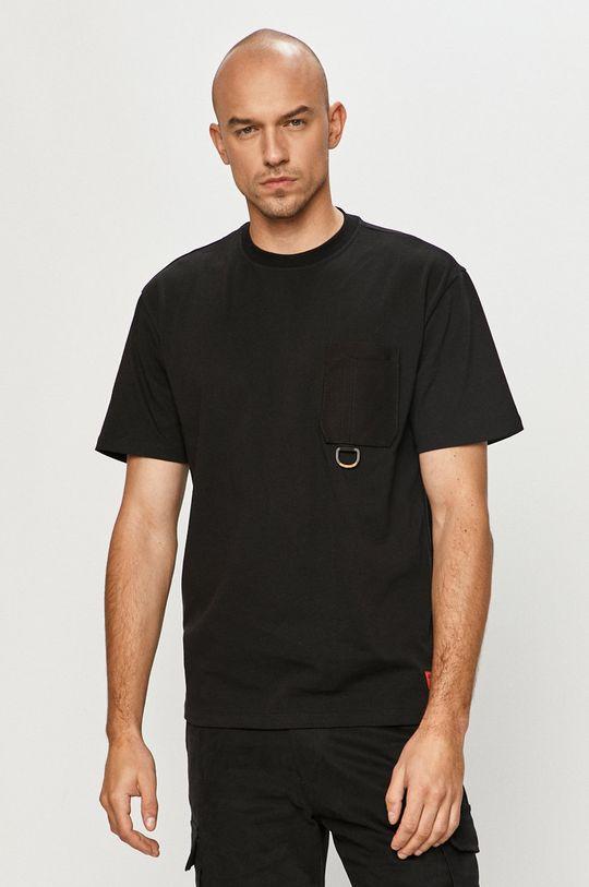 czarny Caterpillar - T-shirt Męski