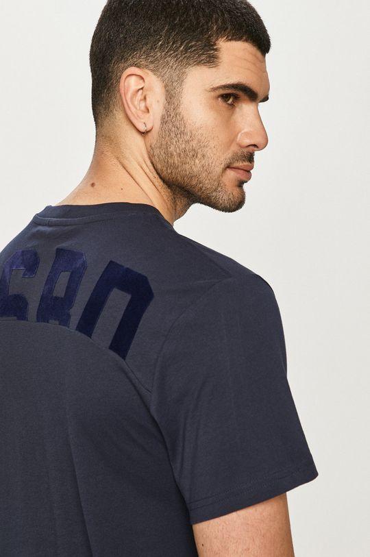 granatowy G-Star Raw - T-shirt Męski