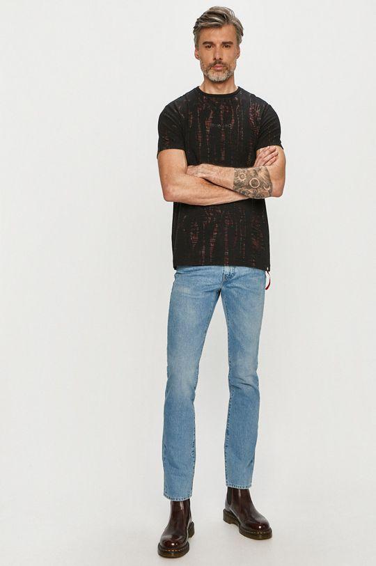 Desigual - Tricou negru