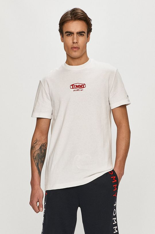 biały Tommy Jeans - T-shirt Męski