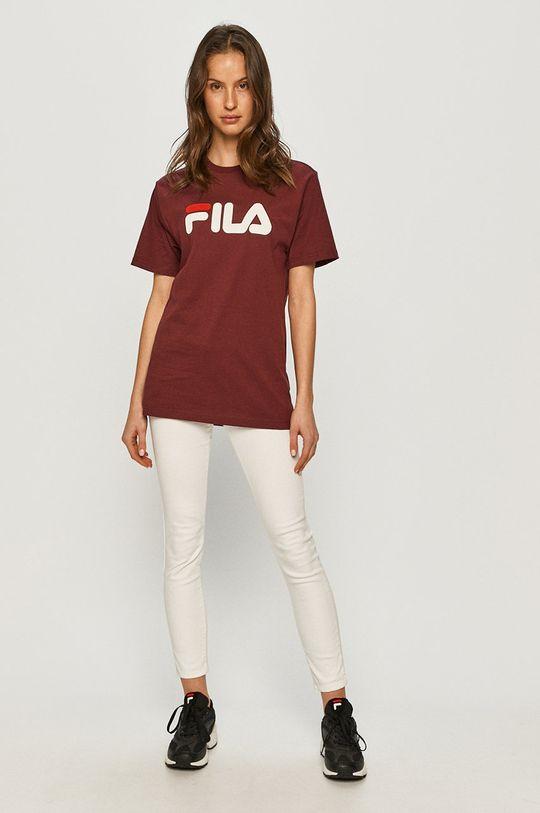 Fila - T-shirt mahoniowy