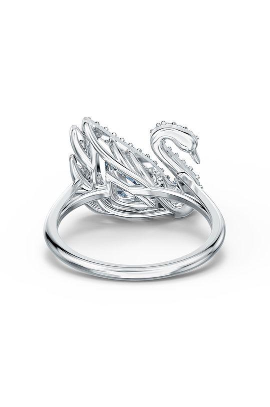 srebrny Swarovski - Pierścionek DANCING SWAN