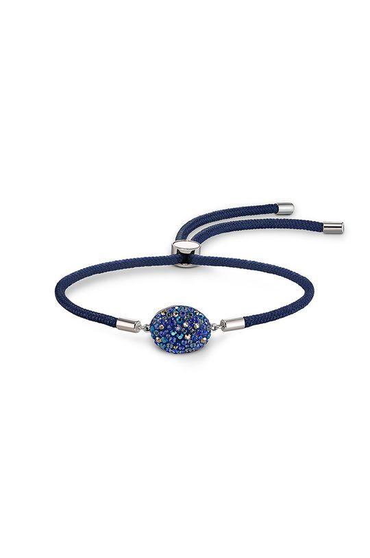 stalowy niebieski Swarovski - Bransoletka SWAPOWER Damski