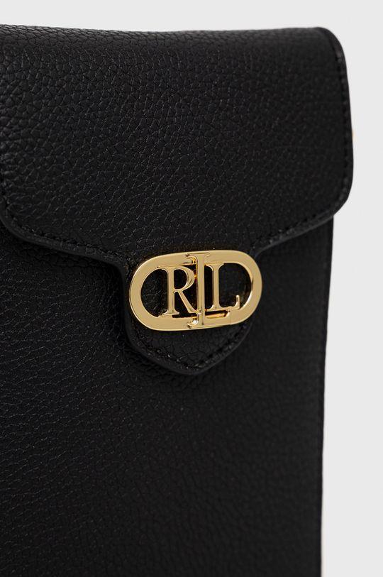czarny Lauren Ralph Lauren - Skórzany pokrowiec na telefon