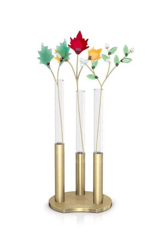 Swarovski - Kwiat dekoracyjny z kryształów GARDEN TALES - MISTLETOE biały
