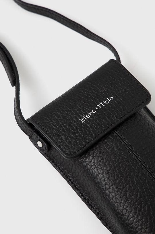 Marc O'Polo - Kožený obal na telefon černá