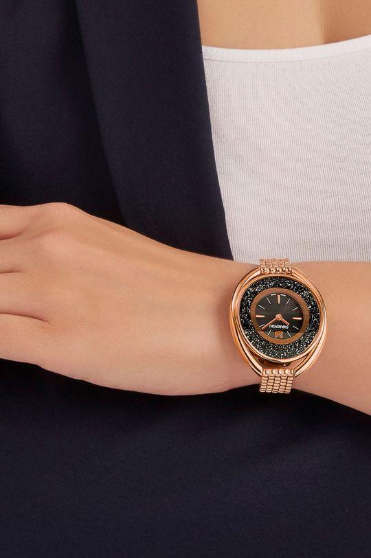 złoty Swarovski - Zegarek Crystalline