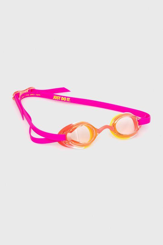fuksja Nike Kids - Okulary pływackie dziecięce Dziewczęcy