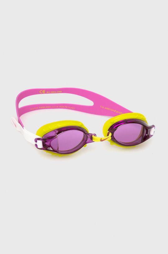 fioletowy Nike Kids - Okulary pływackie dziecięce Dziewczęcy