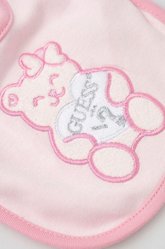 Guess - Śliniak niemowlęcy pastelowy różowy