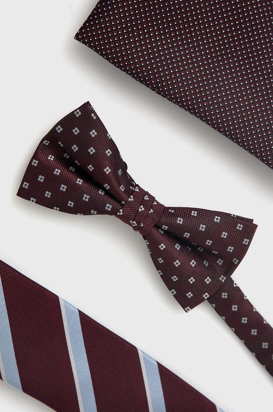 ciemny fioletowy Jack & Jones - Zestaw krawat, mucha i poszetka Męski