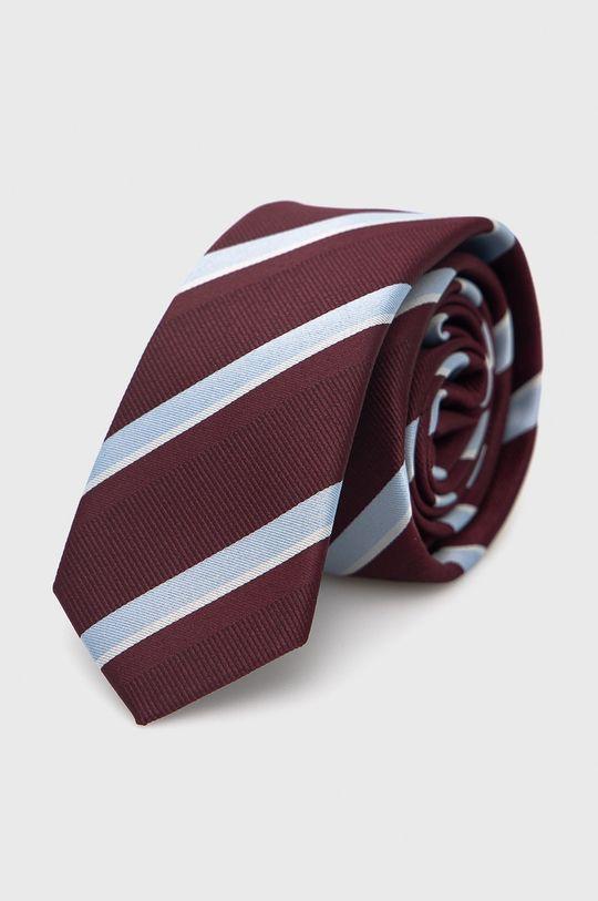 Jack & Jones - Zestaw krawat, mucha i poszetka ciemny fioletowy