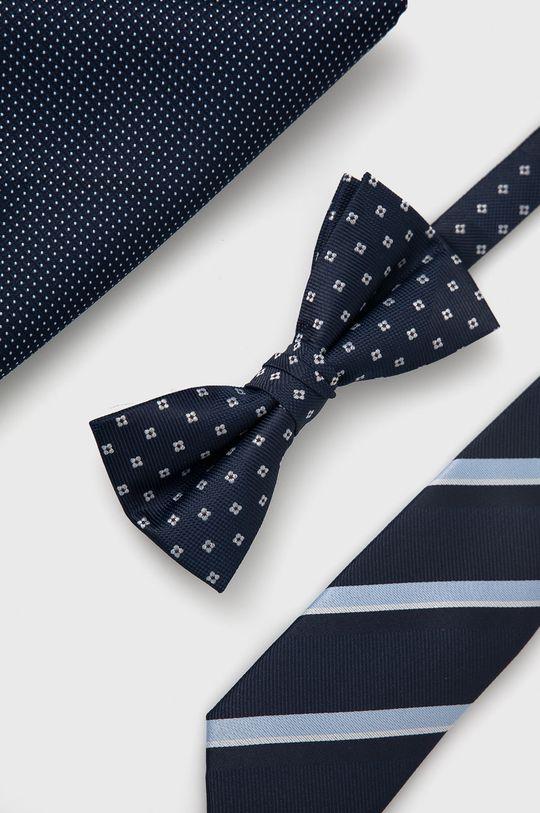 granatowy Jack & Jones - Zestaw krawat, mucha i poszetka Męski