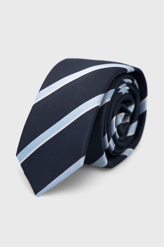 Jack & Jones - Zestaw krawat, mucha i poszetka granatowy