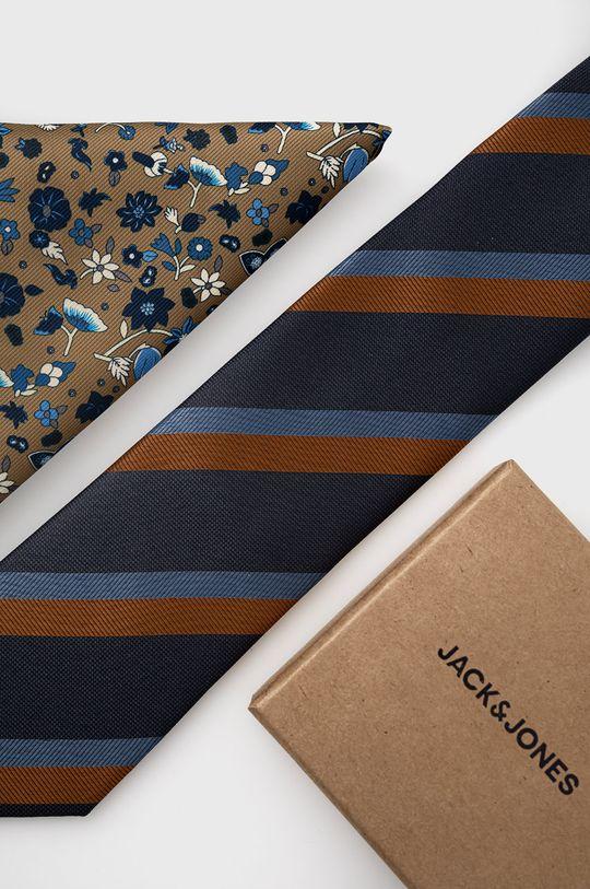 beżowy Jack & Jones - Krawat i poszetka Męski