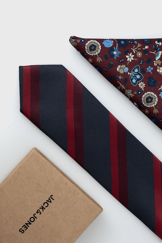 kasztanowy Jack & Jones - Krawat i poszetka Męski