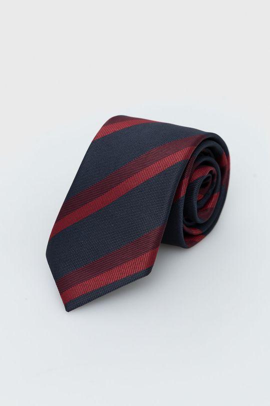 Jack & Jones - Krawat i poszetka kasztanowy
