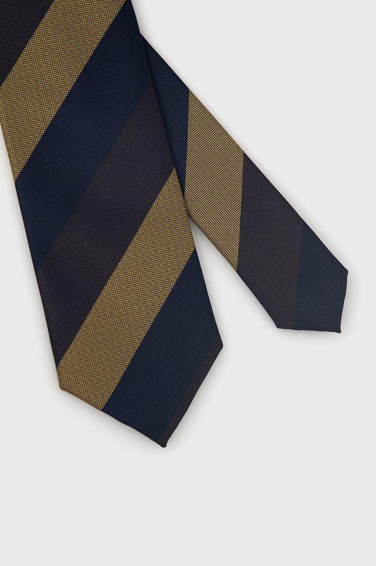 granatowy Jack & Jones - Krawat i poszetka