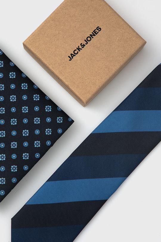 czarny Jack & Jones - Krawat i poszetka Męski