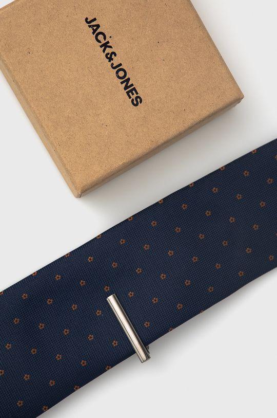 granatowy Jack & Jones - Spinka i krawat Męski