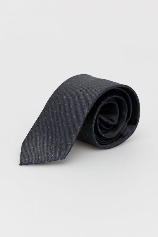 šedá Calvin Klein - Hedvábná kravata Pánský