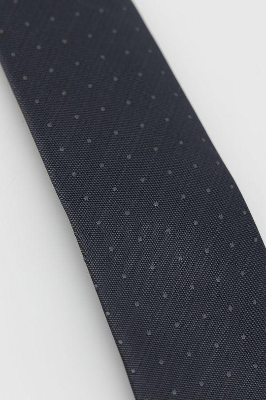 Calvin Klein - Hedvábná kravata šedá