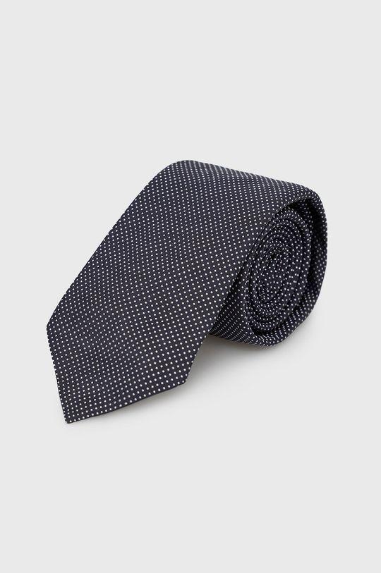 granatowy Hugo - Krawat Męski
