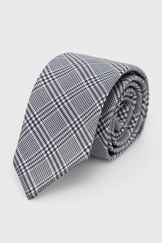 szary Boss - Krawat Męski