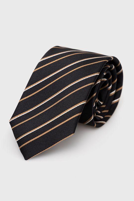 czarny Boss - Krawat Męski