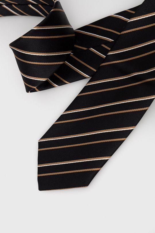 Boss - Krawat czarny