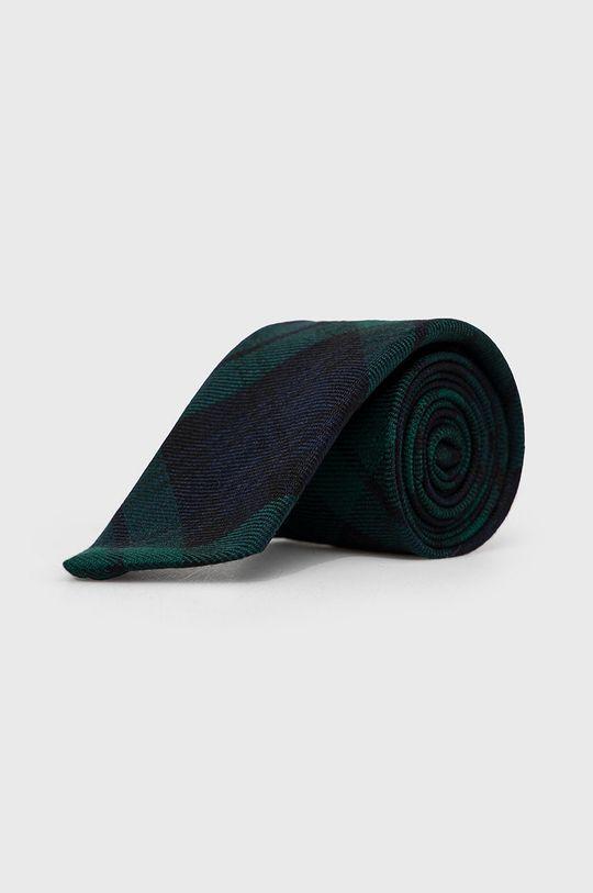 granatowy Polo Ralph Lauren - Krawat wełniany Męski
