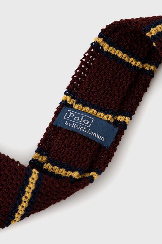 Polo Ralph Lauren - Krawat wełniany kasztanowy